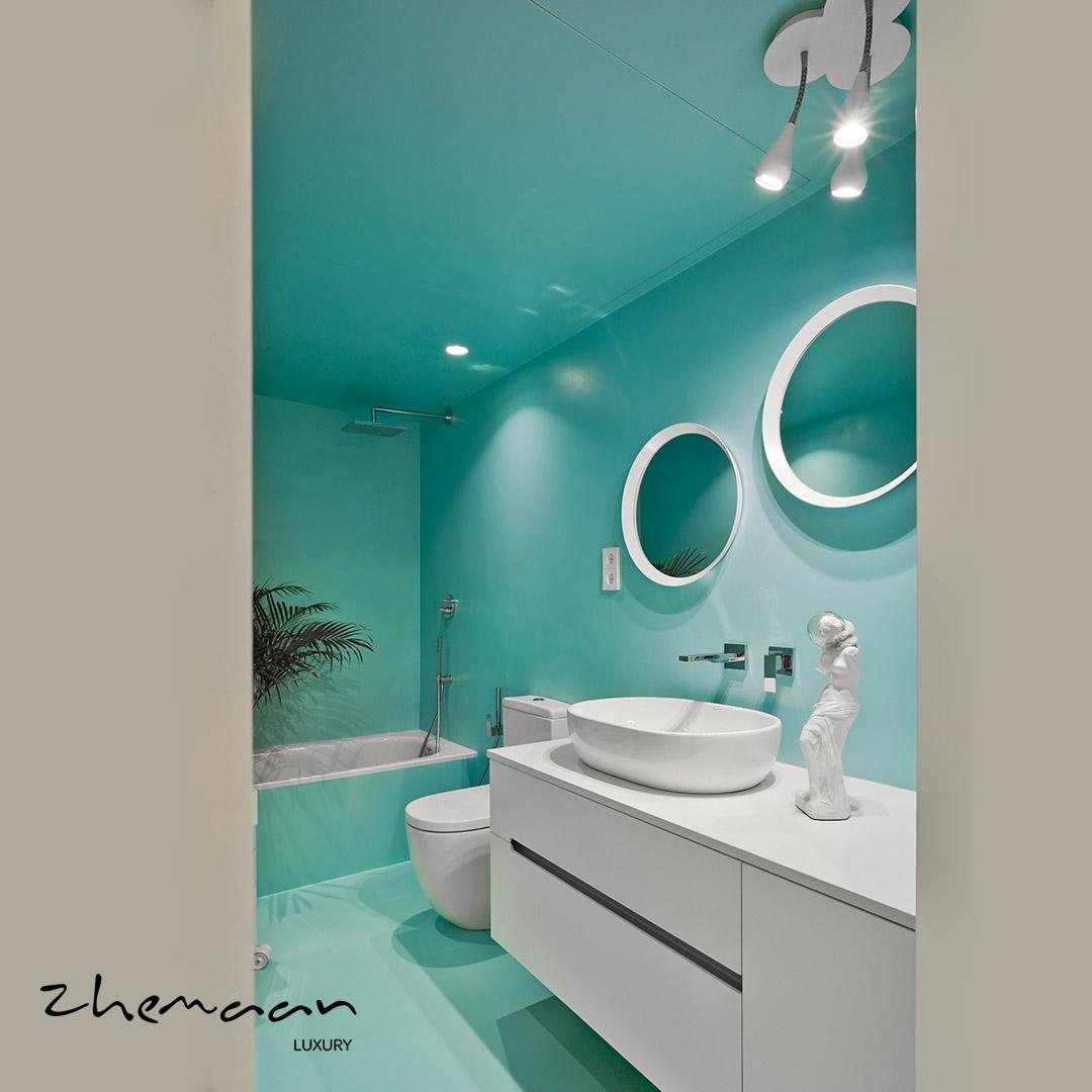 نمونه هایی از زیباترین و مدرن ترین سرویس بهداشتی لوکس و نحوه طراحی آن8