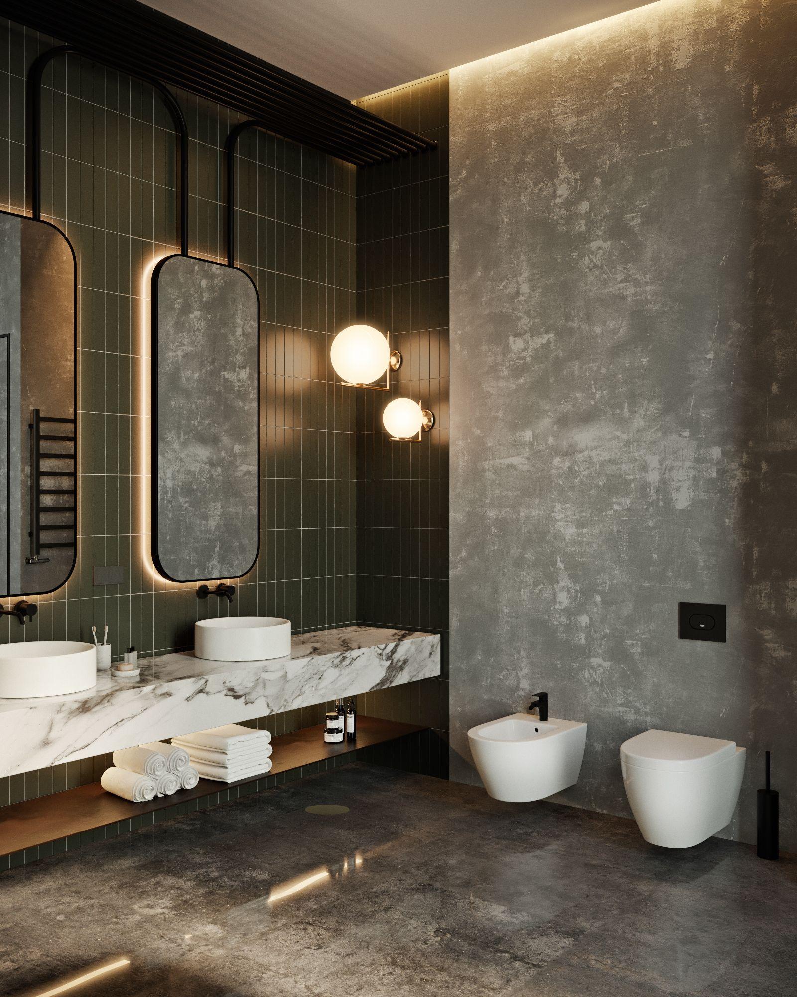 نمونه هایی از زیباترین و مدرن ترین سرویس بهداشتی لوکس و نحوه طراحی آن17