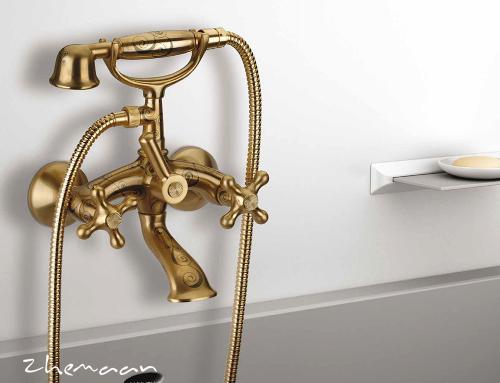 چگونه می توان شیرآلات طلایی را تمیز کرد: نگهداری وسایل حمام با روکش طلایی