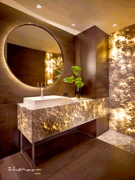 30 ایده طلایی برای طراحی حمام لاکچری (1)