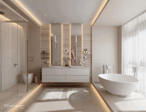 ۳۰ ایده طلایی برای طراحی حمام لاکچری (۱)