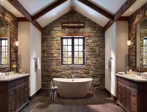 استفاده از عناصر طبیعی در دیزاین حمام