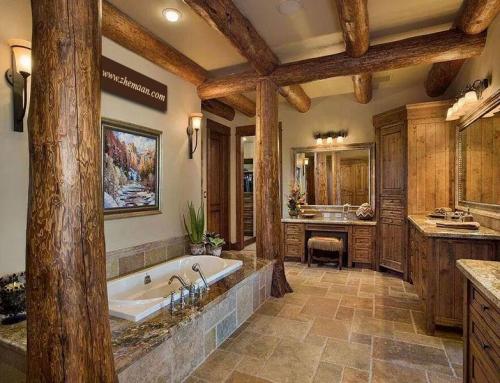 طراحی دکوراسیون حمام براساس سبک روستیک