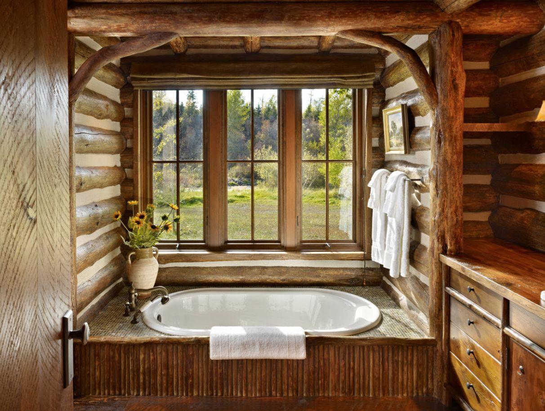 طراحی حمام روستیک
