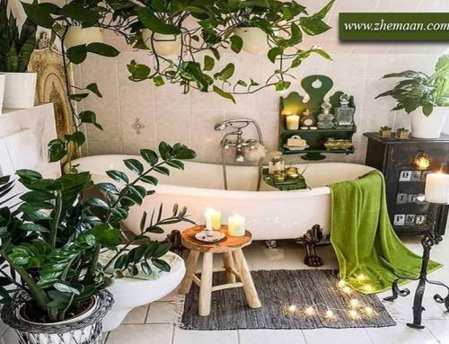 طراحی داخلی حمام به سبک بوهمین (Bohemian style)