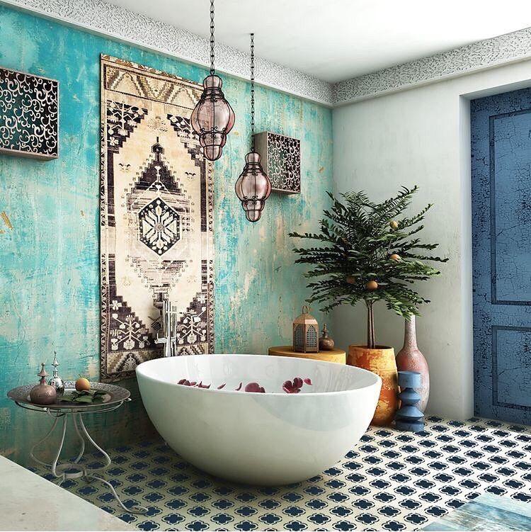 طراحی حمام بوهمین