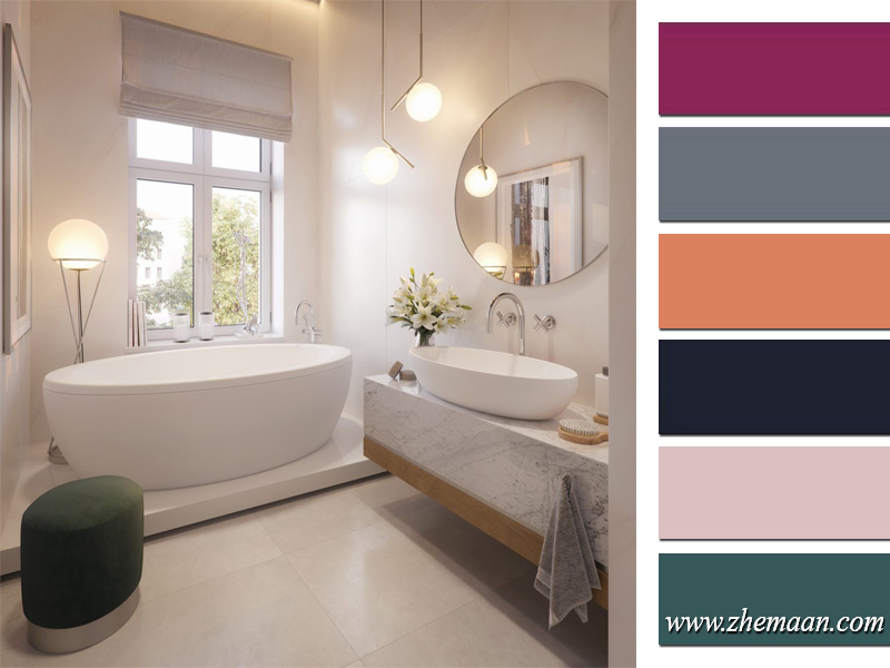 رنگ مناسب برای سرویس بهداشتی