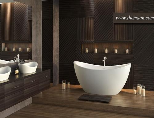 دیزاین حمام مدرن ؛ شکلاتی رنگ نوستالژیک فرانسوی ها