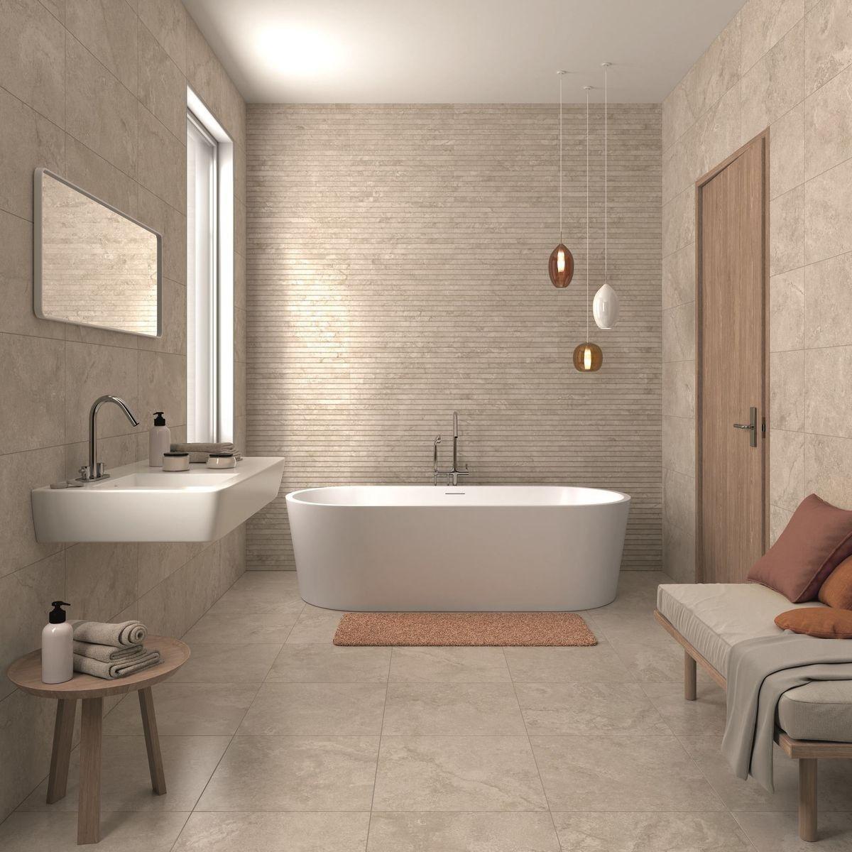 طراحی حمام به سبک پاییزی
