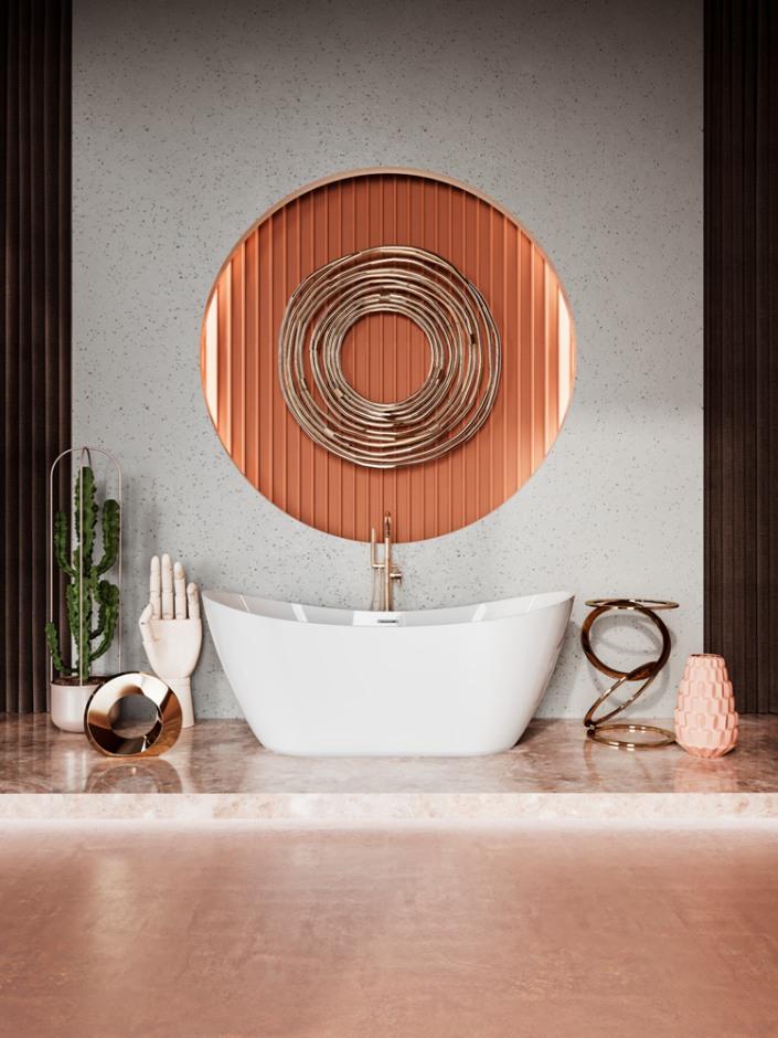 طراحی حمام با وان