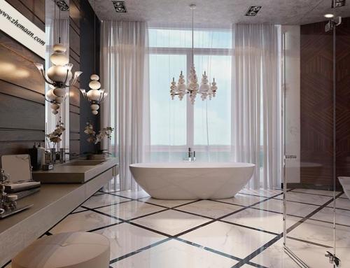 ویژگی های طراحی حمام به سبک نئوکلاسیک