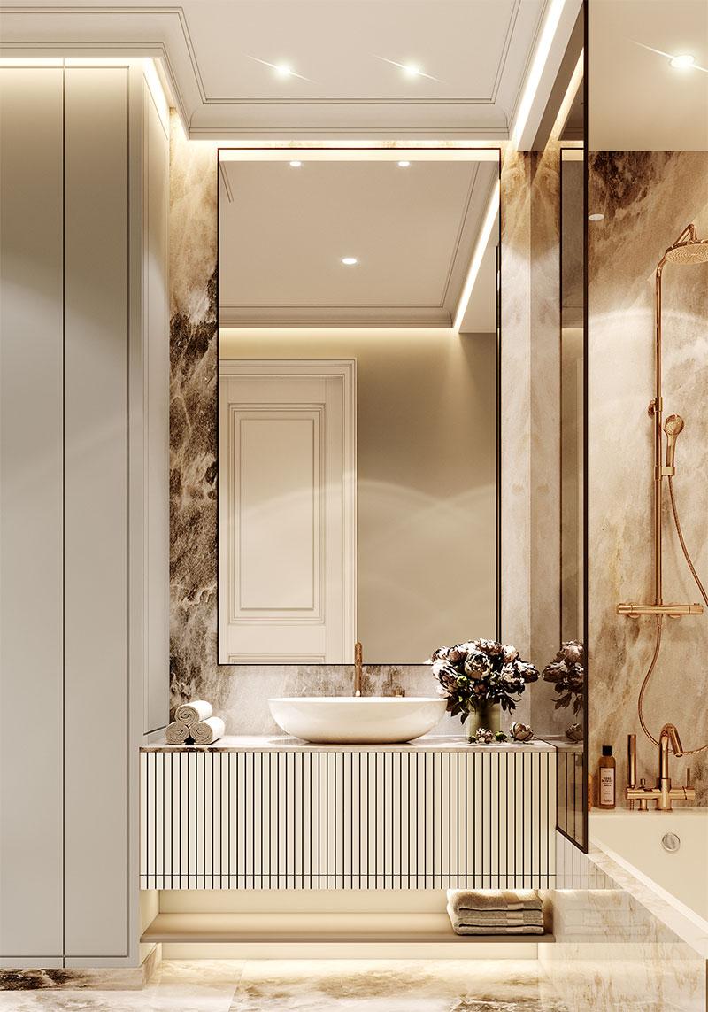 طراحی حمام نئوکلاسیک